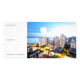 Vancouver, BC - vintage style Custom Photo Card