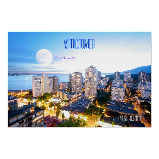 Vancouver, BC - vintage style Poster