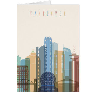 Vancouver, Canada | City Skyline Card