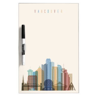 Vancouver, Canada | City Skyline Dry Erase White Board