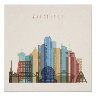 Vancouver, Canada | City Skyline Poster