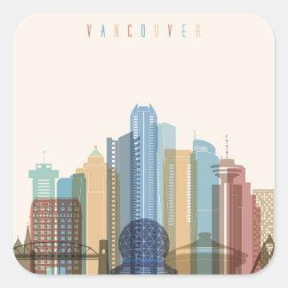 Vancouver, Canada | City Skyline Square Sticker