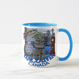 Vancouver Canada Coffee Cups Mugs inukshuk Glasses