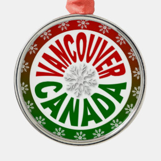 Vancouver Canada red green ornament