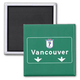 Vancouver, Canada Road Sign Fridge Magnet