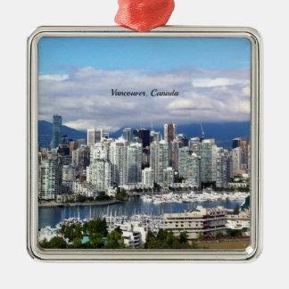 Vancouver Canada Skyline Christmas Ornament