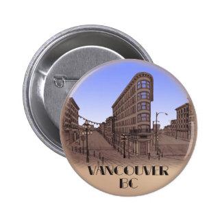 Vancouver Canada Souvenir Buttons Gastown Art Gift