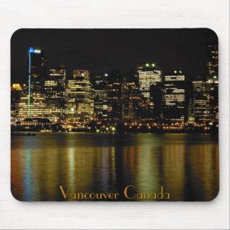 Vancouver Canada Souvenir Mouse Pad City Lights