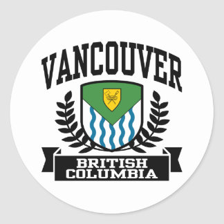 Vancouver Classic Round Sticker
