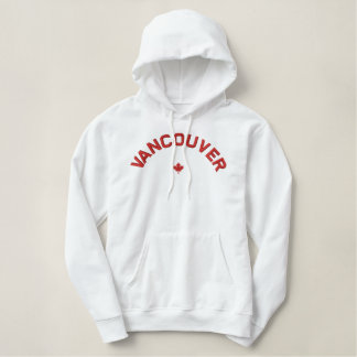 Vancouver Hoodie - Red Canada Maple Leaf