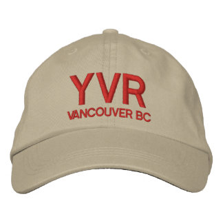 Vancouver International Airport YVR Hat Embroidered Hats
