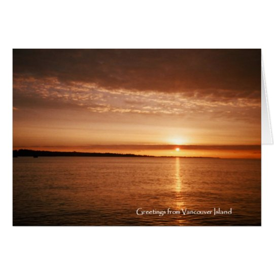 Vancouver Island Sunset Card