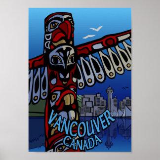 Vancouver Poster Vancouver Totem Pole Souvenir