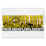 Vancouver Riots 2011 - Their Hockey Fans Suck!!! Greeting Card