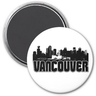 Vancouver Skyline 7.5 Cm Round Magnet