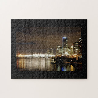 Vancouver Skyline at night Jigsaw Puzzle