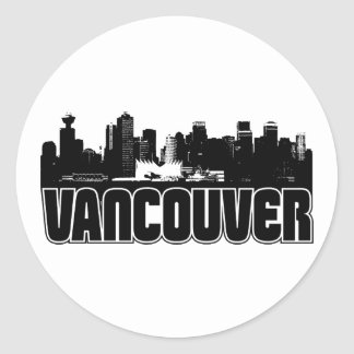 Vancouver Skyline Classic Round Sticker