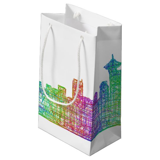 Vancouver skyline small gift bag