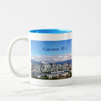Vancouver Skyline Two-Tone Coffee Mug
