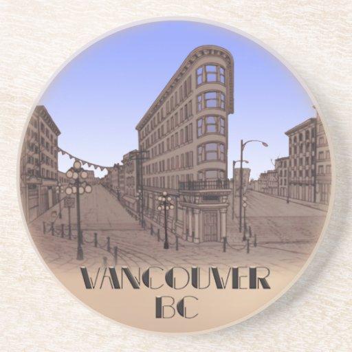 Vancouver Souvenir Coaster Gastown Cityscape Gif