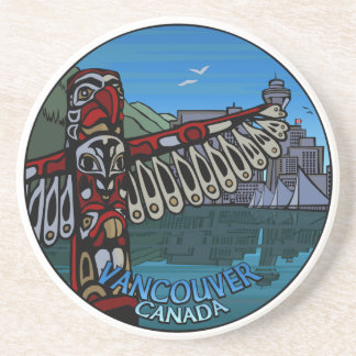 Vancouver Souvenir Coaster Totem Pole Landmarks