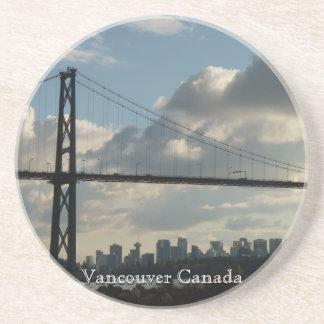 Vancouver Souvenir Coasters Lions Gate Cityscape