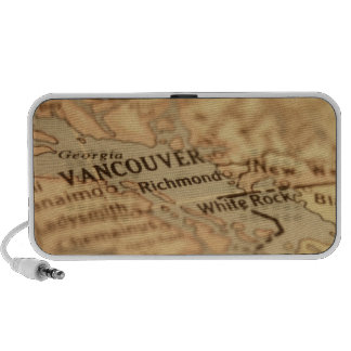 VANCOUVER Vintage Map Doodle Laptop Speaker