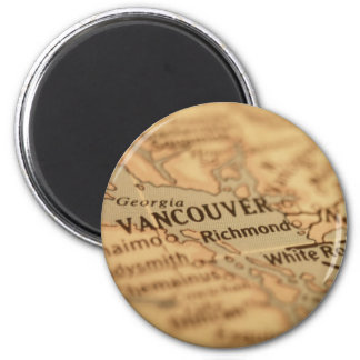 VANCOUVER Vintage Map Magnet