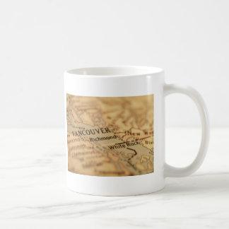 VANCOUVER Vintage Map Mug