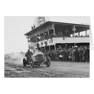 Vanderbilt Cup Auto Race, 1908 Greeting Card