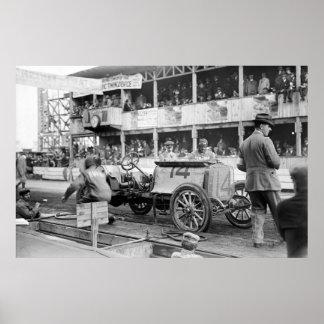 Vanderbilt Cup Race Car: 1910 Poster