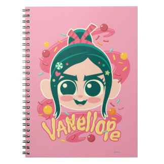 Vanellope Von Schweetz Face Spiral Notebook