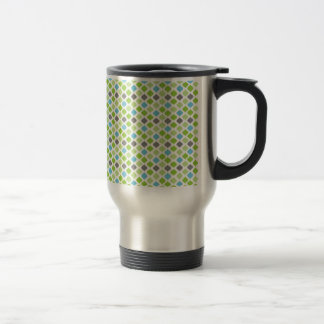 """""""Vanessa"""" Stripes in green, blue and grey Stainless Steel Travel Mug"""