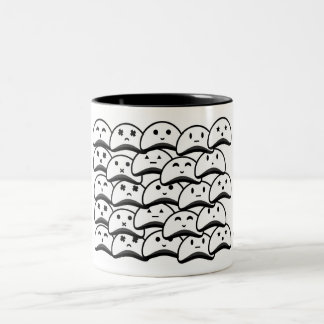 Vaneztastic flooded white blob ghosts mug