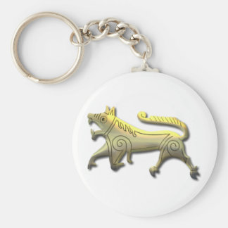 Vang Runestone-etched gold Basic Round Button Key Ring