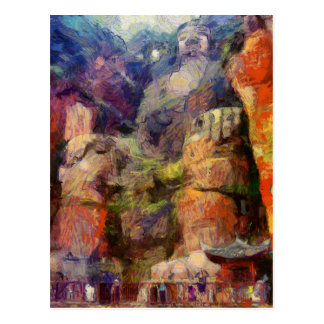 vangogh-Leshan-Giant-Buddha-in-China Postcard