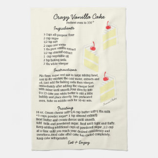Vanilla Cake Recipe Dish Towel