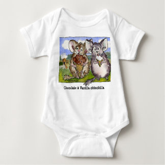 Vanilla Chinchilla Cartoon Funny Baby T Shirt