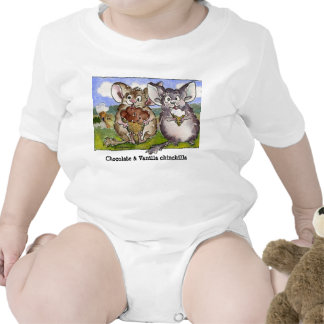 Vanilla Chinchilla Cartoon Funny Baby T Shirts