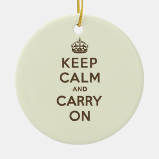 Vanilla Chocolate Keep Calm and Carry On Christmas Ornament