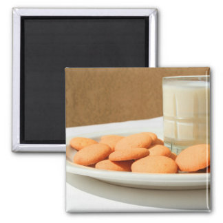 Vanilla Cookies and a Glass of Milk Magnet