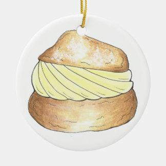 Vanilla Cream Puff Puffs Creampuff Foodie Ornament