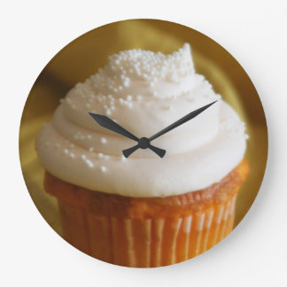 Vanilla Cupcake Kitchen Clock