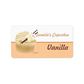 Vanilla Cupcake Labels