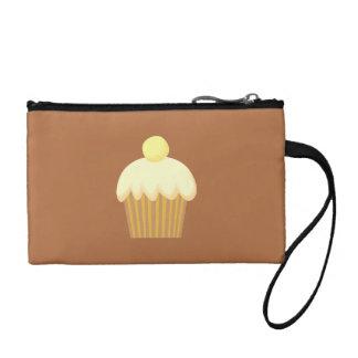 Vanilla Cupcake on Brown. Coin Purse