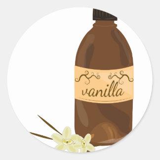 Vanilla Extract Round Sticker