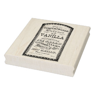 Vanilla Extract - Vintage Pharmacy Ad Rubber Stamp