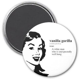 VANILLA GORILLA 7.5 CM ROUND MAGNET