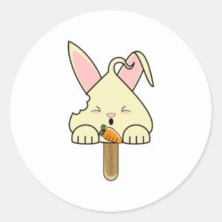 Vanilla Hopdrop Bitten Pop Round Stickers