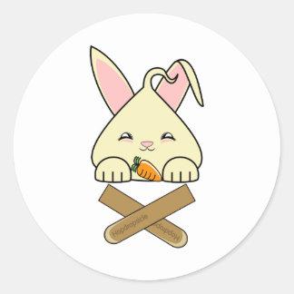Vanilla Hopdrop Crossticks Round Sticker